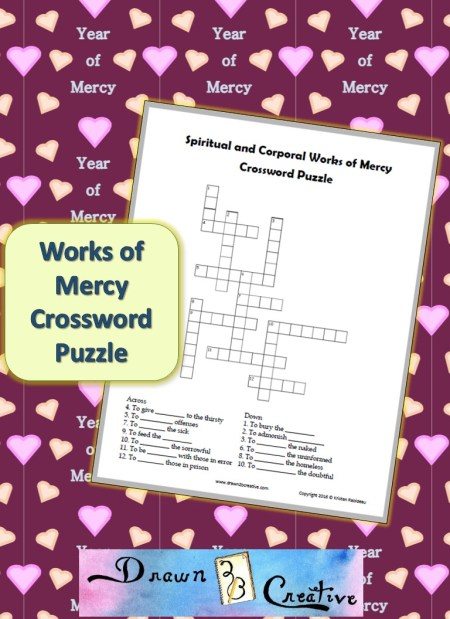 works of mercy crossword puzzle drawn2bcreative. Black Bedroom Furniture Sets. Home Design Ideas