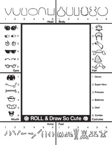 creature creator activity page -draw so cute
