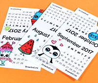 diy ini calendar pages sample