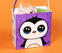 mini gift bag penguin real