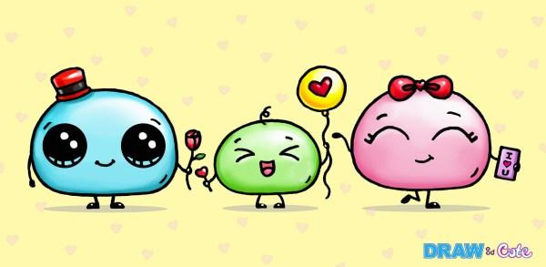 draw so cute mochi family