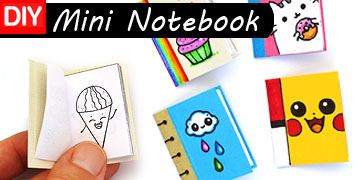 mini notebook diy craft