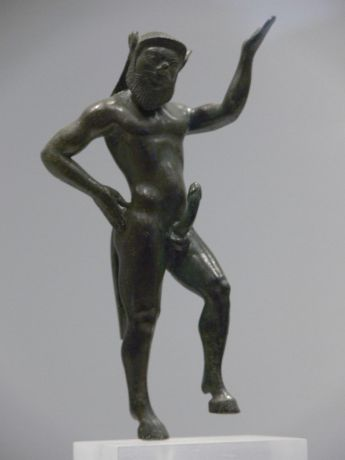 Greek statue of a satyr, Athens Archeological Museum