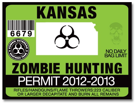 Kansas governor sam brownback to name october zombie for Washington non resident fishing license