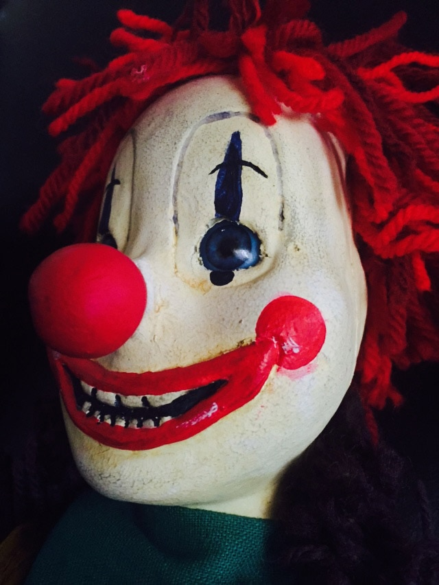 Poltergest Clown Doll In Box of Dread May 2015