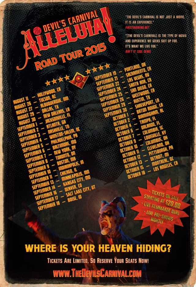 alleluia roadtourposter - Alleluia! The Devil's Carnival Salutes The Major
