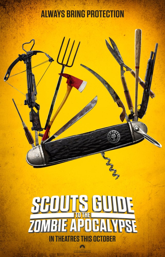 scoutsguide - Leggy Scouts Guide to the Zombie Apocalypse One-Sheet