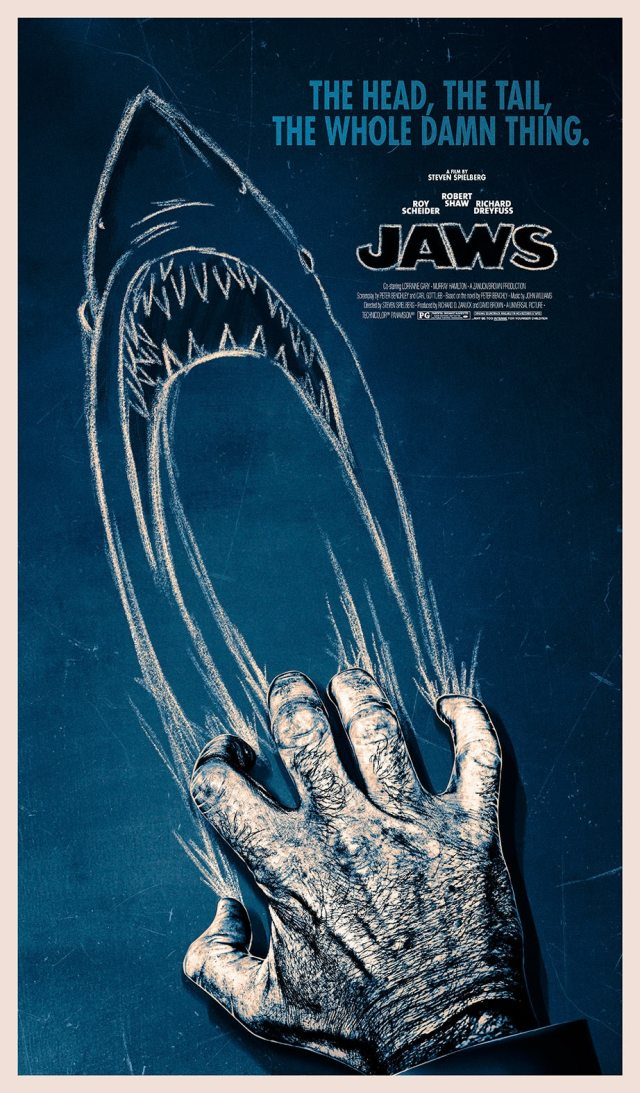 Incredible 40th Anniversary Jaws Poster Pays Tribute to ...