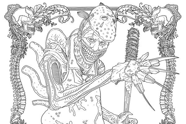 IDW Releases Two Free Monster Mash-Up Coloring Pages from Alan