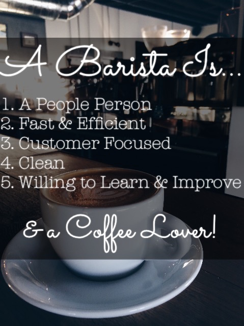 A barista is