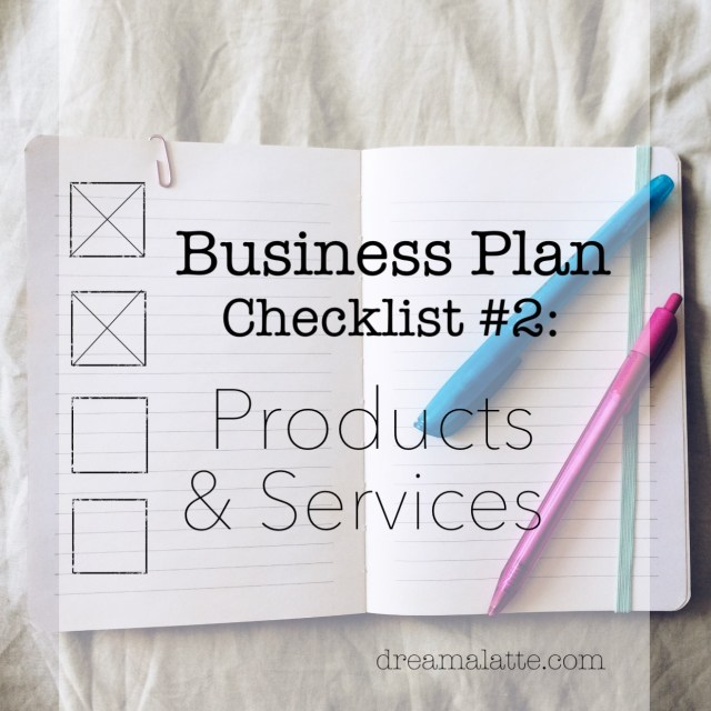 Business Plan Checklist: Products & Services