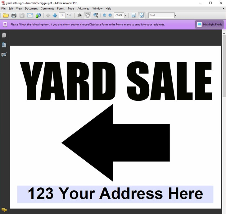 Editable Yard Sale Sign Freebies - Dream a Little Bigger