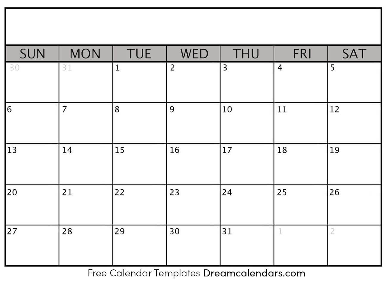 blank calender templates