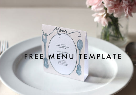 Free Printable Wedding Menus \u2039 Dream Focus Studio Dallas, Texas