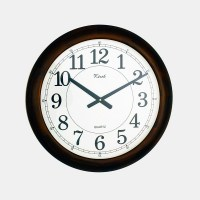 DreamFurniture.com - Wooden Office Wall Clock