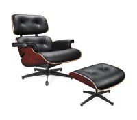 DreamFurniture.com - EC-015 - Modern Leather Lounge Chair