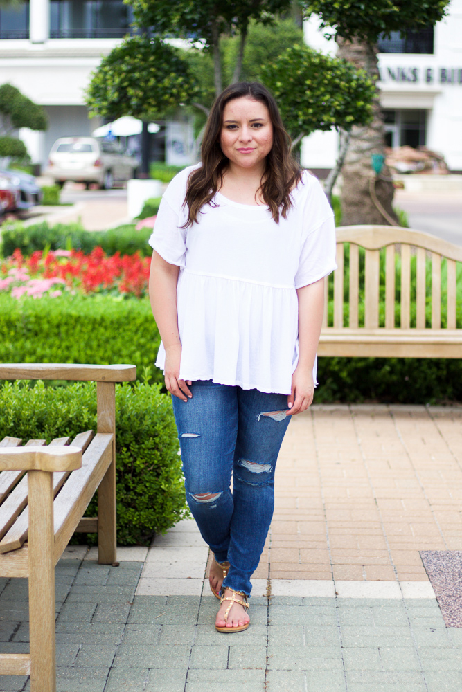 free people white top houston blogger