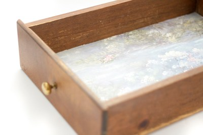 How To Turn Wallpaper Scraps Into Drawer Liners - Dream Green DIY