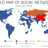 world map of social networks