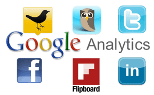 google analytics social media channels