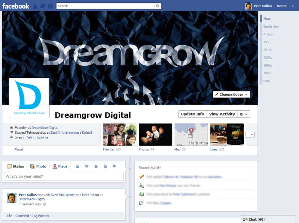Will There Be Timeline for Facebook Pages? @DreamGrow 2018