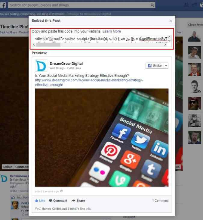 facebook-embedded-post-code