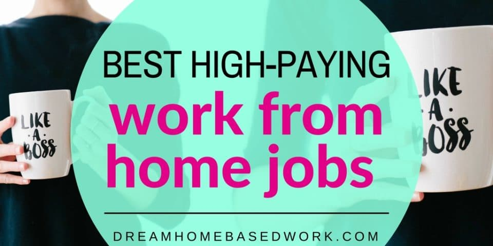 Best 5 High-Paying Work from Home Jobs ( Earn up to $55/hr)