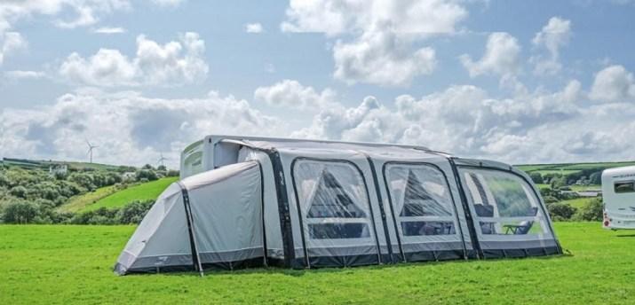 caravan air awning serves as home