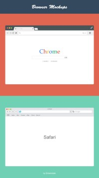 Free Flat Vector Browsers Set