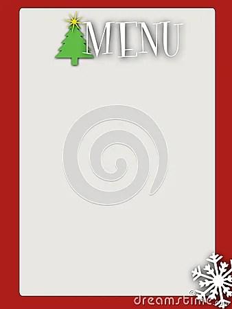 blank christmas menu templates