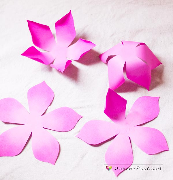 Flower making with paper, free template and step by step tutorial
