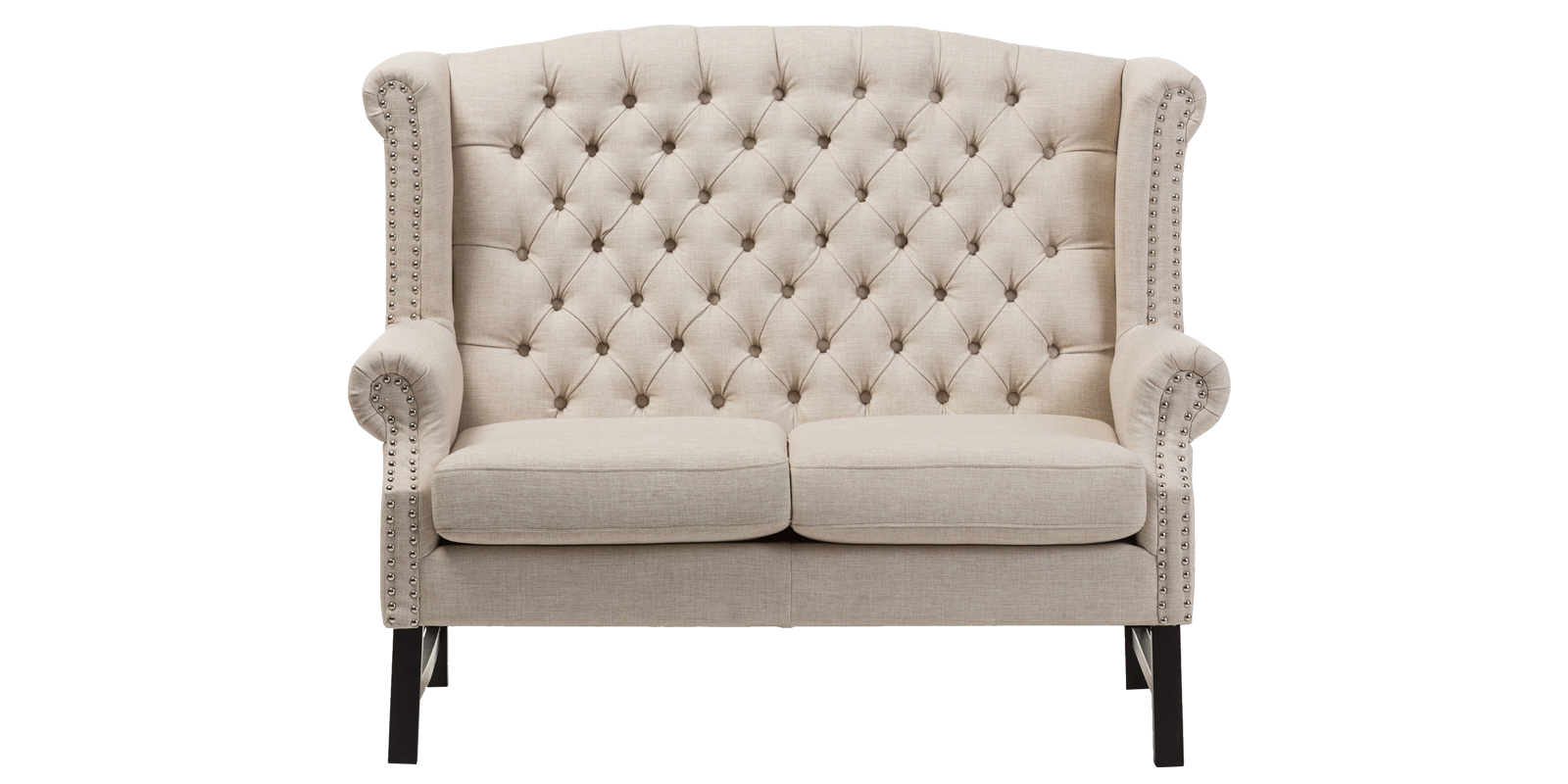 Abott Two Seater Love Seat In Beige Colour Dreamzz