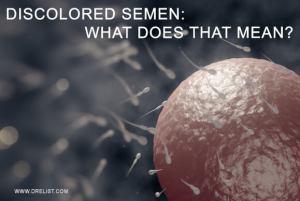 Discolored sperm prostatitis