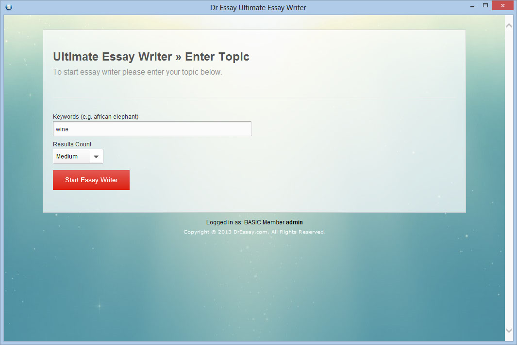 What kind of service does Dr Essay provide?