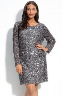 Plus size long Sleeve Sequin Dress   II. PLUS SIZE...dress ...