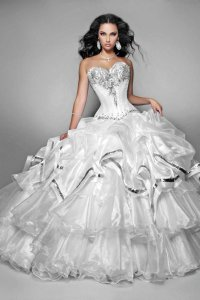 White Quinceanera Dresses Picture Collection | Dressed Up Girl