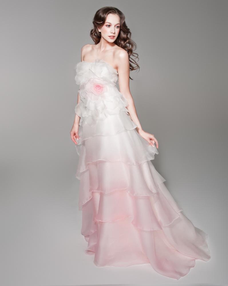 pink wedding dress wedding dresses pink Pink and White Wedding Dresses