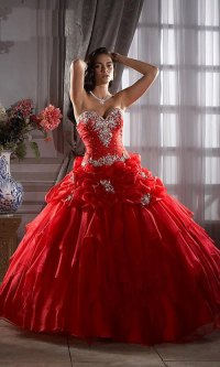 Red Quinceanera Dresses Picture Collection   Dressed Up Girl