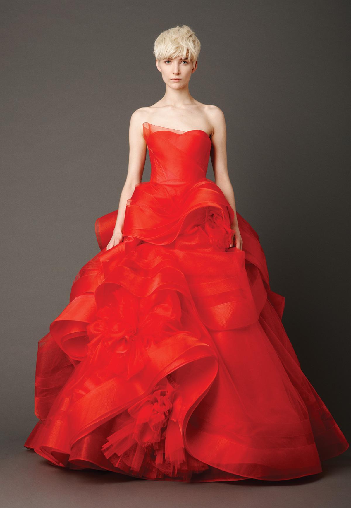 red wedding dresses red dress for wedding Vera Wang Red Wedding Dress