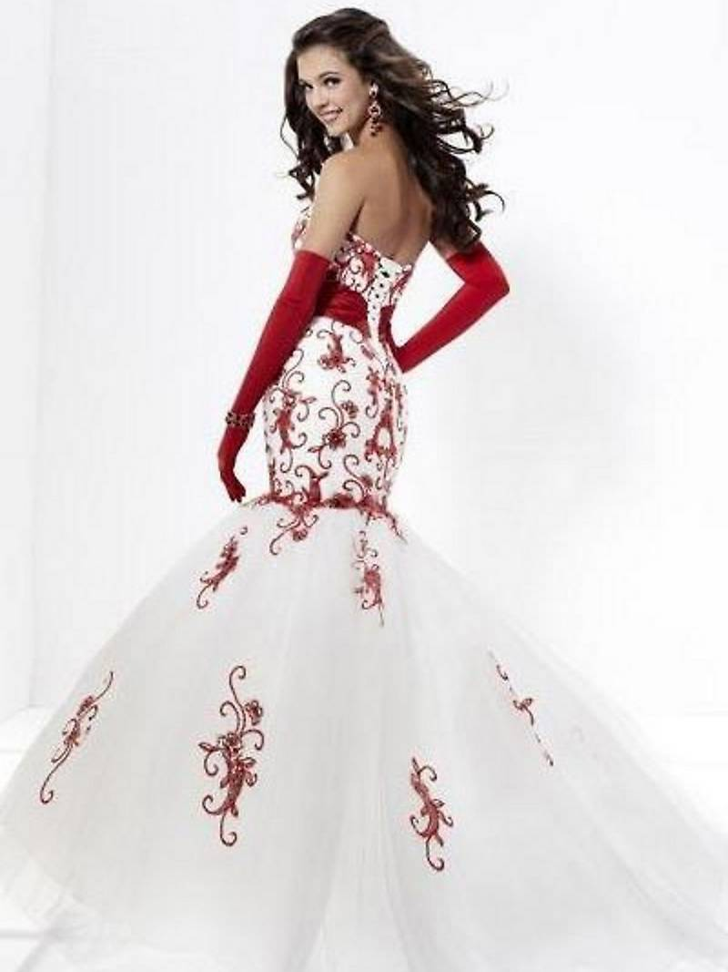 red wedding dresses red dress for wedding White and Red Wedding Dresses