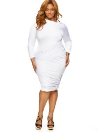 Plus Size White Dress   Dressed Up Girl