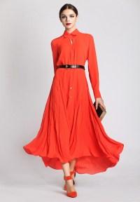 Red Long Sleeve Maxi Dress | Dress Ideas