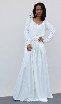 White Maxi Dress   Dressed Up Girl