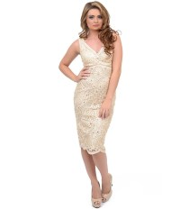 Champagne Lace Dress | Dressed Up Girl