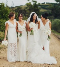 White Bridesmaid Dresses | Dressed Up Girl