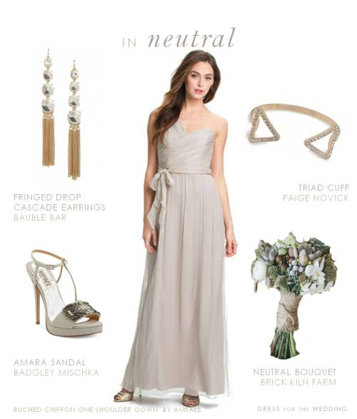 Medium Of Taupe Bridesmaid Dresses