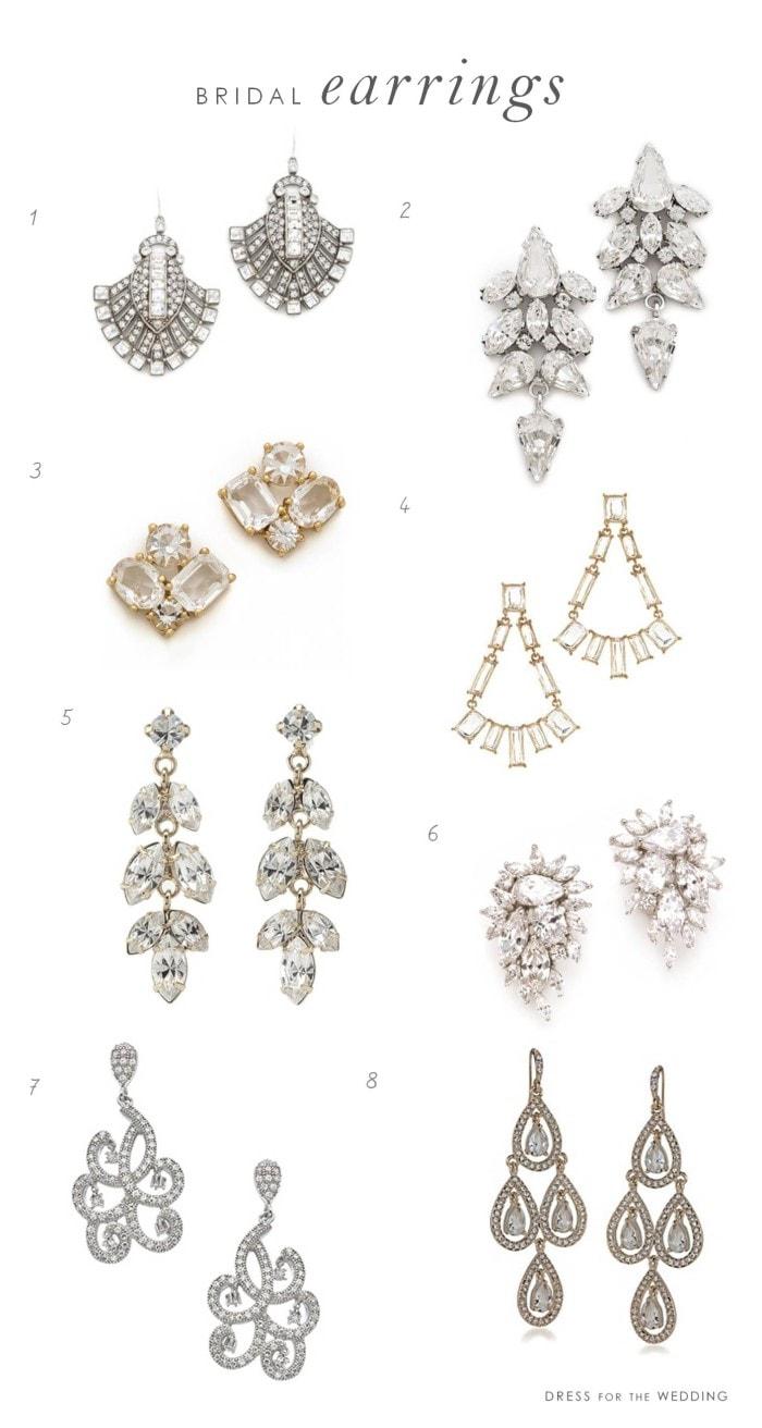 bridal earrings wedding earrings Earrings for Brides