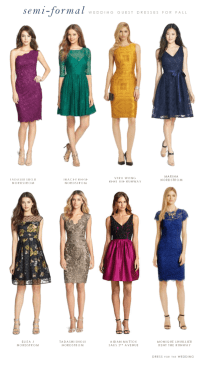 What to Wear to a Semi-Formal Fall Wedding