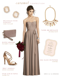 Taupe Bridesmaid Dress
