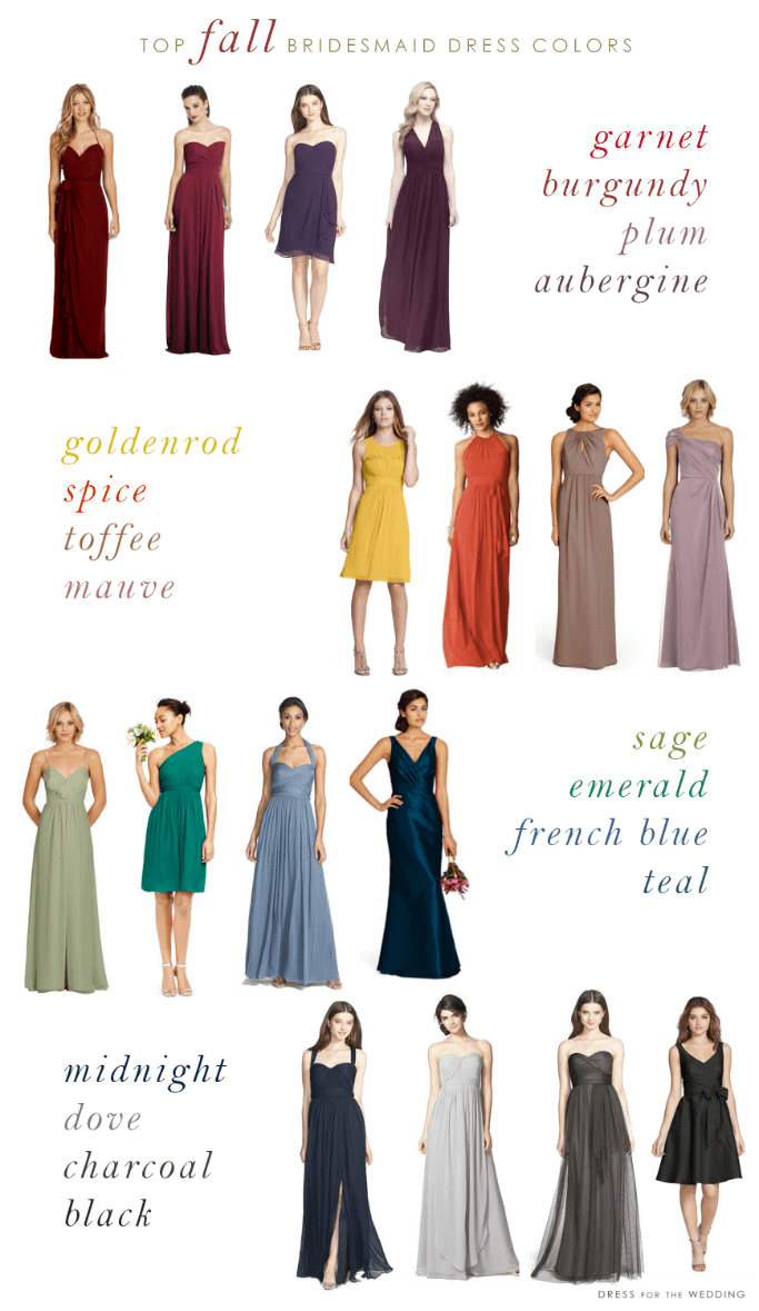 fall wedding 2 fall dresses for wedding Top colors for bridesmaid dresses for fall